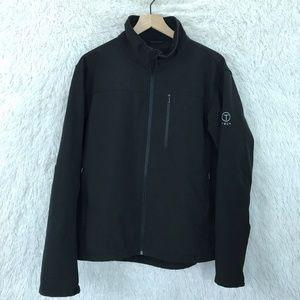 Soft Shell Jacket Black Full Zip Tech By Tumi L